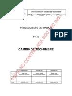 PT-10 Procedimiento Cambio de Techumbre _Rev 0