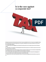 How Tenable is the Case Against Reduction in Corporate Tax