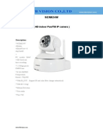 HD720P wireless IP camera with SD/Micro SD Slot support P2P function NCM624W-www.ttbvs.com