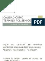 Calidad - Polisemia