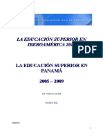 La Educación Superior en Panama. Vielka Escobar (1)