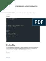 Python Breve Resumen Para Principiantes