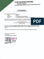 e7. Surat Dukungan Material