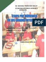 ETAPA PRENUMERICA EN GRADOS INTERMEDIOS