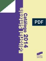 Catalogo Sintesis 2014