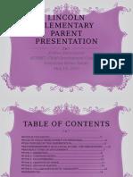 parent presentation