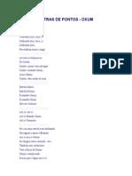 Letras de Pontos - Oxum