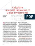 Calculate Financial Indicators to Guide Investments