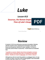 13. Excursus, The Roman Empire at the Time of Luke's Gospel