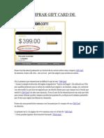 Cómo Comprar Gift Card de Amazon