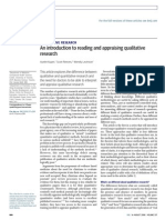 Reading and appraising qualitative research