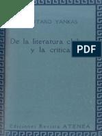 De La Literatura Chilena y La Crítica