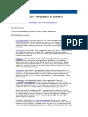 Statistics I - Introduction to ANOVA, Regression, And