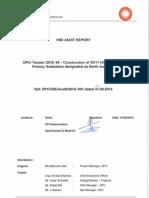 SFO - HSE Audit Report 31.08.2014