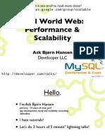 Real World Web Performance Scalability MySQL Edition