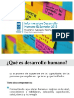 Informe Del Desarrollo Humano en El Salvador 2013