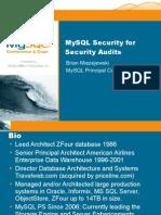Securing MySQL for a Security Audit Presentation