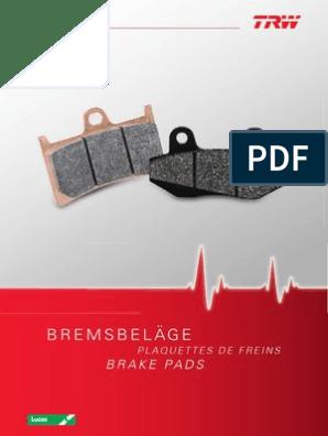 Bremsklötze Scheibenbremsbeläge MCB 710 SRM ABE Benelli Malaguti Aprilia Beta De