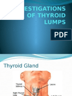 Investigations of Thyroid Lumps1