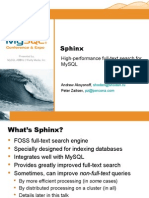 Sphinx  High Performance Full Text Search for MySQL Presentation