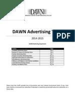 Dawn 2014-2015 Tariff - Pkr