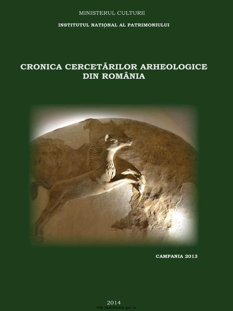 Cronica Cercetarilor Arheologice 2014