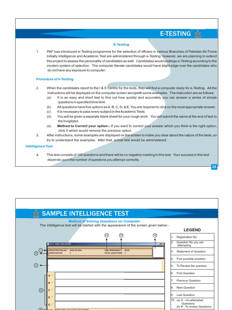 pakistan air force test sample paper special relativity