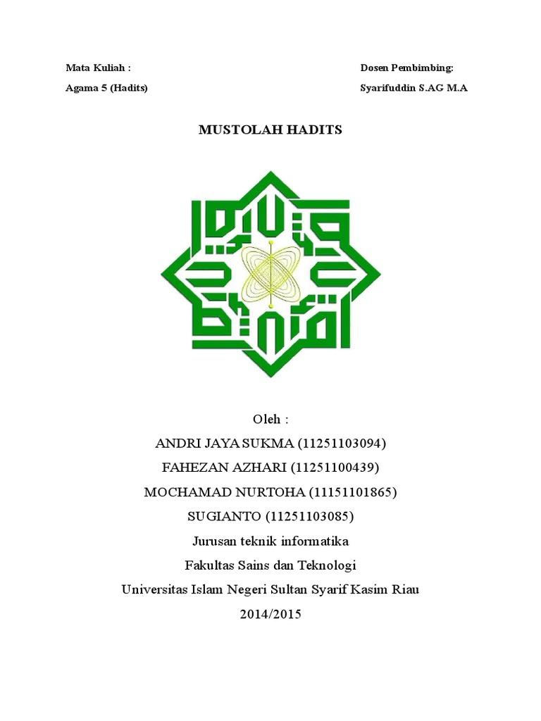 Mustholah Hadits