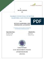 Market Potential of Kotak Mahindra Life Insurance by Vivek Kr. Tiwari(1)