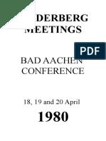 Bilderberg Meetings Report 1980 Open Office