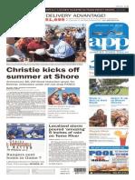 Asbury Park Press front page, Saturday, May 30, 2015