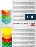 4037 Five Vertical Arrow Process Powerpoint Template