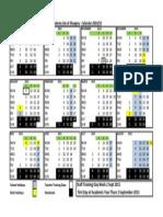 Academy Calendar 2014-15 - With Timetable Weeks