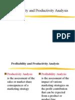 Productivity and Profitability Analysis