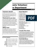 Newsletter | Atlanta Volunteer Fire Department