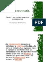 Usos y aplicaciones de la microeconomía