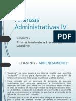 Sesion 2 Finanzas Administrativas IV Leasing