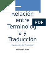 Relación entre Terminología y Traducción