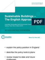 100219 Sustainable Buildings - The English Approach - ASBEC Canberra 19 Feb