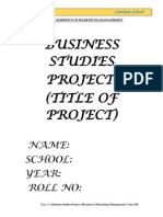 Elements of Marketing Management Project