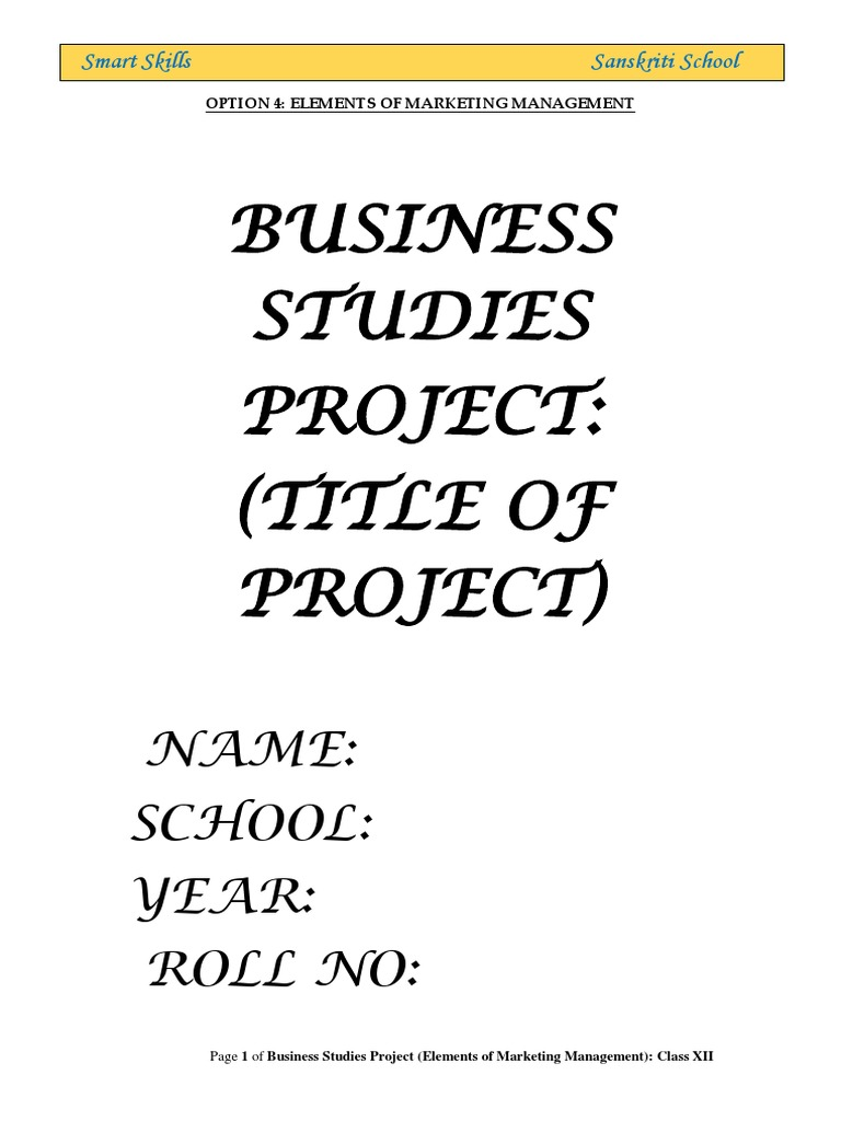 Elements Of Marketing Management Project Sales Distribution