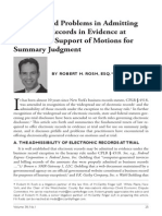 Problems in admitting Electronic Records in evidence at trial amd motion for summary judgment.pdf