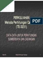 Materi MPC 05 Data Data Untuk Perhitungan Cadangan