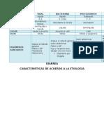Diarrea Caracteristicas Segun La Etiologia