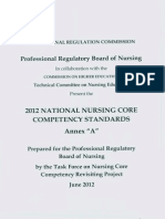 2012 Core Competency Standards