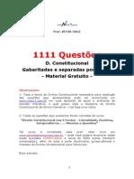 Vítor Cruz 2013 - 1111 Questões Direito Con Stitucional