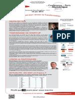 La Conférence de Paris sur le Numérique - newsletter