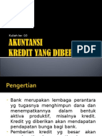 Akuntansi Kredit Yang Diberikan