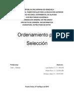 Ordenamiento Por Seleccion