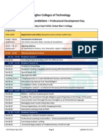 foundations pd day program schedule